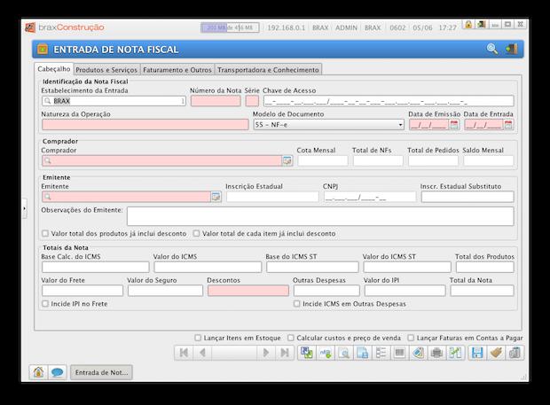 Entrada de Nota Fiscal com Carregamento Automático do XML